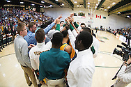 during the men's basketball game between the Lyndon State Hornets and the Vermont Catamounts at Patrick Gym on Saturday afternoon November 19, 2016 in Burlington (BRIAN JENKINS/for the FREE PRESS)
