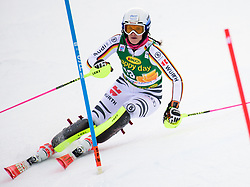 January 7, 2018 - Kranjska Gora, Gorenjska, Slovenia - Christina Geiger of Germany competes on course during the Slalom race at the 54th Golden Fox FIS World Cup in Kranjska Gora, Slovenia on January 7, 2018. (Credit Image: © Rok Rakun/Pacific Press via ZUMA Wire)