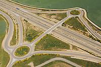 Aerial image<br /> motorways Salamanca Region, Castilla y León, Spain