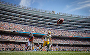 Green Bay Packers wide receiver Jordy Nelson (87) can't get to this pass in the end zone ahead of Chicago Bears cornerback Kyle Fuller (23) in the second quarter Sunday, Sept. 28, 2014 at Soldier Field. (Brian Cassella/Chicago Tribune)