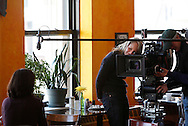 "Academy Award winning actress Helen Hunt directs a 60-second documentary-style commercial for Frito Lay's TrueNorth Snacks Brand telling the story of Lisa Nigro, a former Chicago police offer who runs The Inspiration Cafe, a nonprofit that provides restaurant-style meals and support services for the city's homeless on January 16, 2009 in Chicago. Nigro's story beat more than 2,000 submissions in Frito-Lay snack brand TrueNorth's search for the ""Most Inspiring TrueNorth Story."" The spot debuted during the 2009 Academy Awards telecast. (For Frito Lay)"