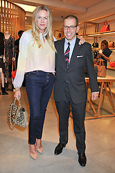 EMMA HILL and JONATHAN NEWHOUSE at a party to celebrate the launch of the Vogue Fashion's Night Out held at Mulberry, Bond Street, London on 6th September 2012.