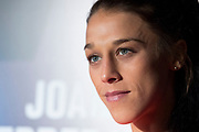 DALLAS, TX - MAY 10:  Joanna Jedrzejczyk speaks to the media during the UFC 211 Ultimate Media Day at the House of Blues Dallas on May 10, 2017 in Dallas, Texas. (Photo by Cooper Neill/Zuffa LLC/Zuffa LLC via Getty Images) *** Local Caption *** Joanna Jedrzejczyk
