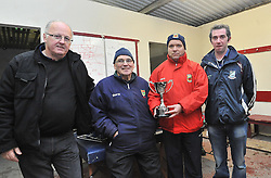 Pictured in the dressing romm after Shrule-Glencorrib's Junior B Win over Garrymore were Paddy Ward, Tom Payne, Peter Walsh and Johnny Gilmore.<br /> Pic Conor McKeown