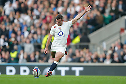 England Fly-Half George Ford kicks a conversion - Photo mandatory by-line: Rogan Thomson/JMP - 07966 386802 - 29/11/2014 - SPORT - RUGBY UNION - London, England - Twickenham Stadium - England v Australia - QBE Autumn Internationals.