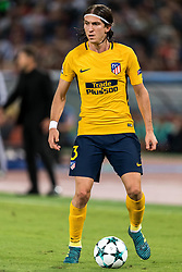 Filipe Luis of Club Atletico de Madrid during the UEFA Champions League group C match match between AS Roma and Atletico Madrid on September 12, 2017 at the Stadio Olimpico in Rome, Italy.