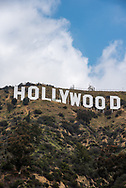 The Hollywood sign in Los Angeles, California.