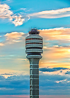 Air Traffic Control Tower at Orlando International Airport at Sunset. Orlando International Airport is an international airport 6 miles southeast of Orlando. It is the second-busiest airport in the state of Florida.