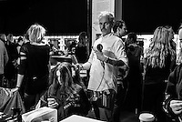 London 19th September 2016 Backstage during  ANTONIO BERARDI Catwalk Show at London Fashion Week Spring/Summer 17