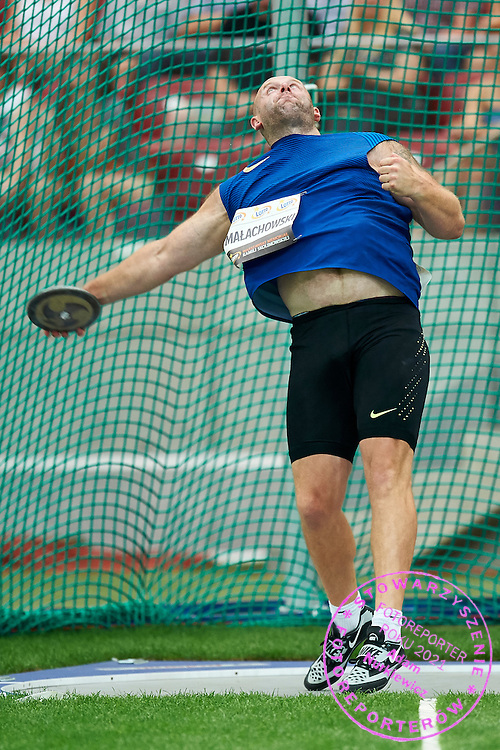 Warsaw, Poland - 2016 August 28: Piotr Malachowski competes at men's discus throw competition during athletics meeting Kamila Skolimowska Memorial 2016 at PGE National Stadium  August 28, 2016 w Warsaw, Poland.<br /> <br /> Adam Nurkiewicz declares that he has no rights to the image of people at the photographs of his authorship.<br /> <br /> Picture also available in RAW (NEF) or TIFF format on special request.<br /> <br /> Any editorial, commercial or promotional use requires written permission from the author of image.<br /> <br /> Mandatory credit:<br /> Photo by &copy; Adam Nurkiewicz