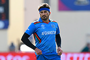 Hamid Hassan of Afghanistan during the ICC Cricket World Cup 2019 match between Afghanistan and Australia at the Bristol County Ground, Bristol, United Kingdom on 1 June 2019.