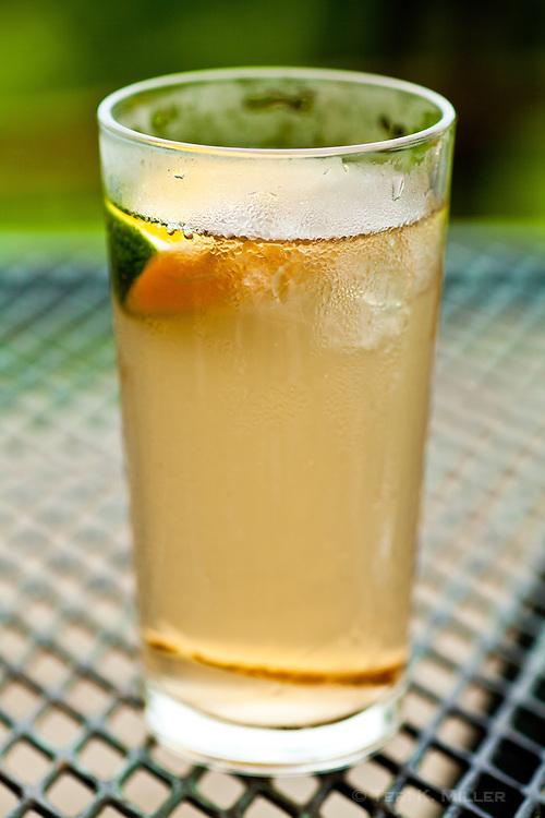 A refreshing drink at Lapa Rios Ecolodge, Osa Peninsula, Costa Rica.