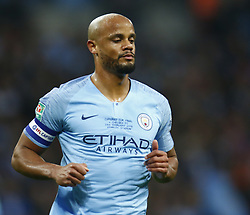 February 24, 2019 - London, England, United Kingdom - Manchester City's Vincent Kompany.during during Carabao Cup Final between Chelsea and Manchester City at Wembley stadium , London, England on 24 Feb 2019. (Credit Image: © Action Foto Sport/NurPhoto via ZUMA Press)