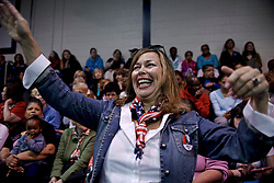 Holly Faris started as a Hillary Clinton impersonator, and in the process became a Clinton supporter herself, she tells. Here Faris is standing in the crowd at a campaign rally of presumable Democratic Presidential Candidate Hillary Clinton a May 11, 2016 public event at Camden County College in Blackwood, Gloucester Township, NJ.