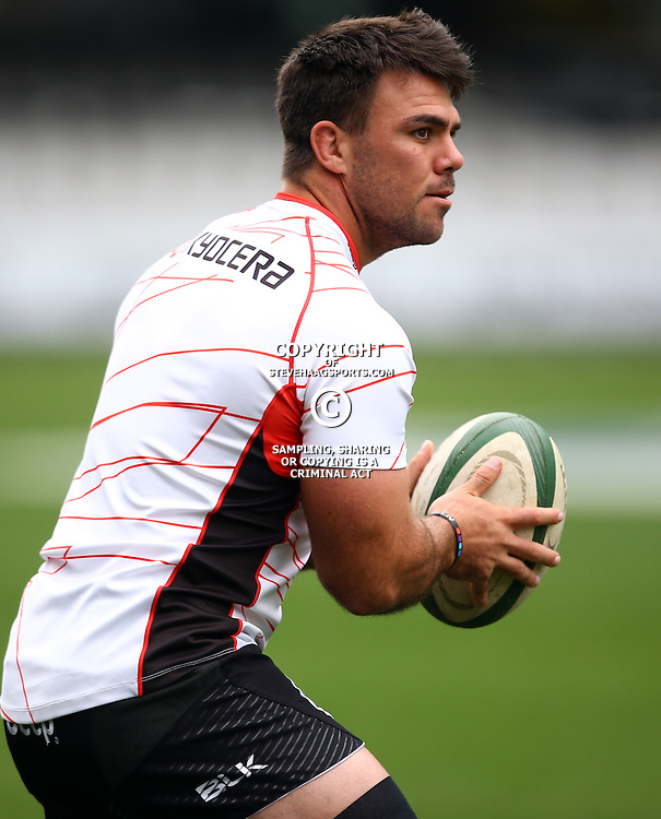 DURBAN, SOUTH AFRICA, 9 September, 2016 - Francois Klenhans during The Cell C Sharks Captains Run at Growthpoint Kings Park in Durban, South Africa. (Photo by Steve Haag)<br /> <br /> images for social media must have consent from Steve Haag