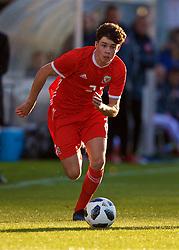 BANGOR, WALES - Monday, October 15, 2018: Wales' Neco Williams during the UEFA Under-19 International Friendly match between Wales and Poland at the VSM Bangor Stadium. (Pic by Paul Greenwood/Propaganda)