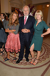 Left to right, CHRISTA D'SOUZA, NICK ALLOTT and RACHEL JOHNSON at a party hosed by the US Ambassador to the UK Matthew Barzun, his wife Brooke Barzun and editor of UK Vogue Alexandra Shulman in association with J Crew to celebrate London Fashion Week held at Winfield House, Regent's Park, London on 16th September 2014.