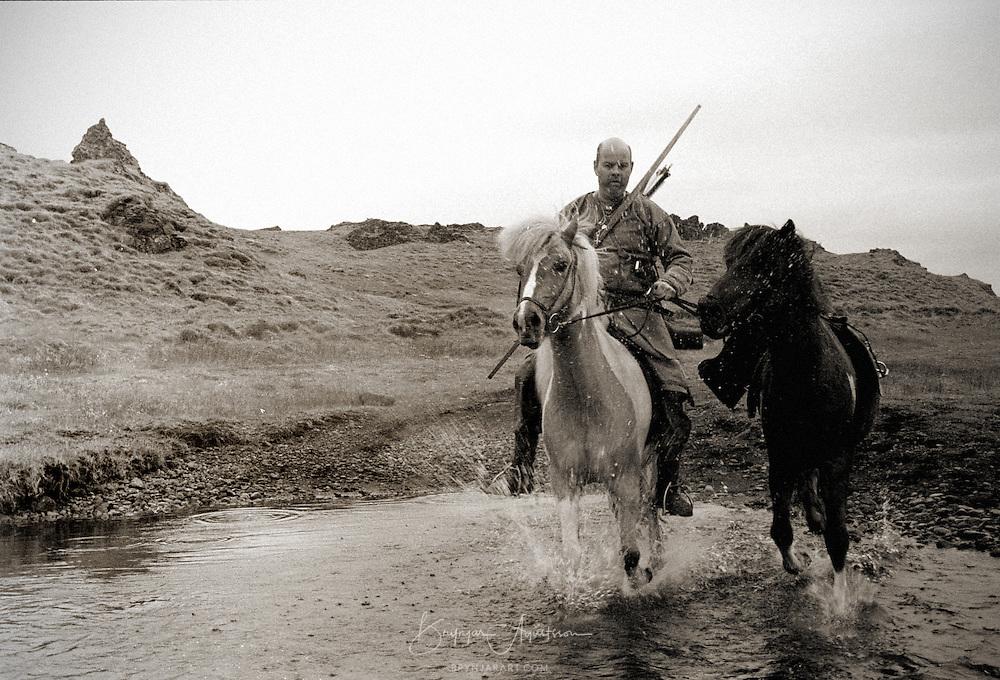 Vikings on their way to Alþingi.