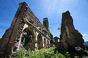 "Ruins of an old church at the ""Castaniccia"" which has its name from the chestnut forests covering most of it."