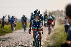 Rider of Wanty - Groupe Gobert during the 115th Paris-Roubaix (1.UWT) from Compiègne to Roubaix (257 km) at cobblestones sector 17 from Hornaing to Wandignies, France, 9 April 2017. Photo by Pim Nijland / PelotonPhotos.com | All photos usage must carry mandatory copyright credit (Peloton Photos | Pim Nijland)