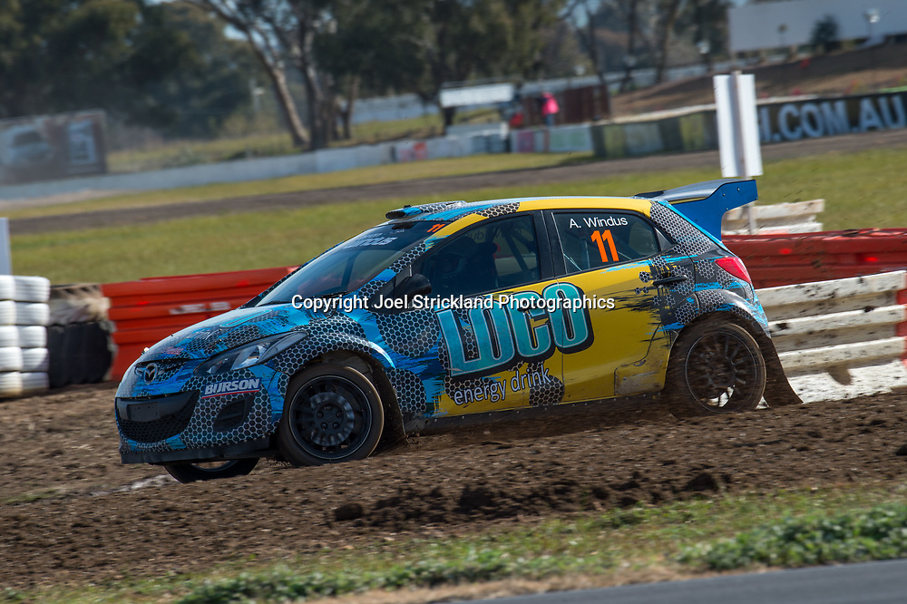 Arron Windus, Mazda 2 - Rallycross Australia - Winton Raceway - 16th July 2017