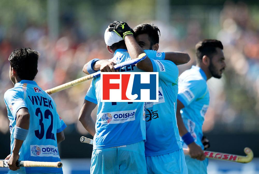 BREDA - Rabobank Hockey Champions Trophy<br /> The Netherlands - India<br /> Photo: Mandeep Singh and Manpreet Singh.<br /> COPYRIGHT WORLDSPORTPICS FRANK UIJLENBROEK