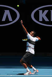 MELBOURNE, Jan. 13, 2019  Nick Kyrgios of Australia attends a training session ahead of the Australian Open in Melbourne, Australia, Jan. 13, 2019. (Credit Image: © Bai Xuefei/Xinhua via ZUMA Wire)