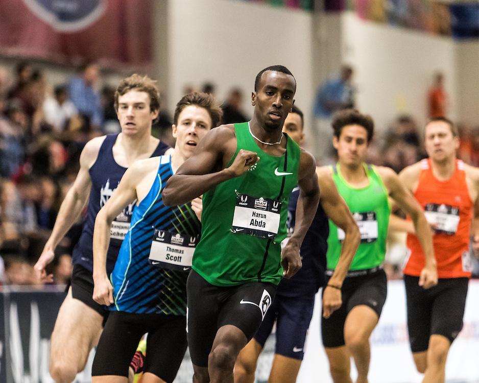 USATF Indoor Track & Field Championships: mens 1000, Harun Abda, Nike OTC Elite