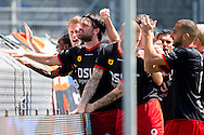 WAALWIJK, RKC Waalwijk - Excelsior Rotterdam, voetbal play-off promotie / degradatie, seizoen 2013-2014, 18-05-2014, Mandemakers Stadion, Excelsior speler Sander Fischer (2L) heeft de 0-2 gescoord.