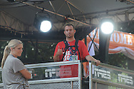 Ole Miss photographer Josh McCoy on the set of ESPN's College Gameday, in the Grove at the University of Mississippi in Oxford, Miss. on Friday, October 3, 2014.  Mississippi plays host to Alabama on Saturday. (AP Photo/Oxford Eagle, Bruce Newman)