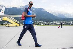 August 2, 2017 - Innsbruck, AUSTRIA - Gent's Kalifa Coulibaly pictured during the arrival of Belgian first division soccer team KAA Gent ahead of the return leg of the third qualifying round for the UEFA Europa League competition, Wednesday 02 August 2017 in Innsbruck airport. KAA Gent plays against Austrian team Rheindorf Altach on Thursday after a draw result 1-1. BELGA PHOTO JASPER JACOBS (Credit Image: © Jasper Jacobs/Belga via ZUMA Press)