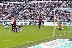 Football: Germany, 2. Bundesliga, TSV 1860 Muenchen - 1.FC Nuernberg, 17.05.2015,<br /> Guillermo VALLORI (TSV1860) scores to 1:1<br /> <br /> © pixathlon