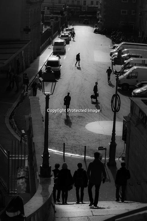 Paris 10th; Alsace street stairway