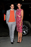 March 30, 2015 - New York, NY, USA - <br /> <br /> Actress Katie Holmes (L) and designer Zac Posen arriving at the 'Woman In Gold' New York premiere at Museum of Modern Art <br /> ©Exclusivepix Media