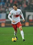 Wroclaw 15/11/2013<br />International friendly match<br />Poland vs Slovakia<br />Robert Lewandowski of Poland<br />Photo by: Piotr Hawalej