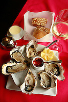 Villa Margot, Quiberon..oysters...photo by Owen Franken for the NY Times..July 7, 2008.. Oysters for lunch in Brittany at restaurant Villa Margot