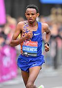 Mosinet Geremew (ETH) places second in 2:02:55 at the 39th London Marathon in London, Sunday, April 28, 2019. (Jiro Mochizuki/Image of Sport)
