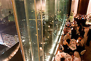 Felix restaurant of hotel Penisula in Kowloon. It has been designed by renowned French architect and designer Philippe Starck.