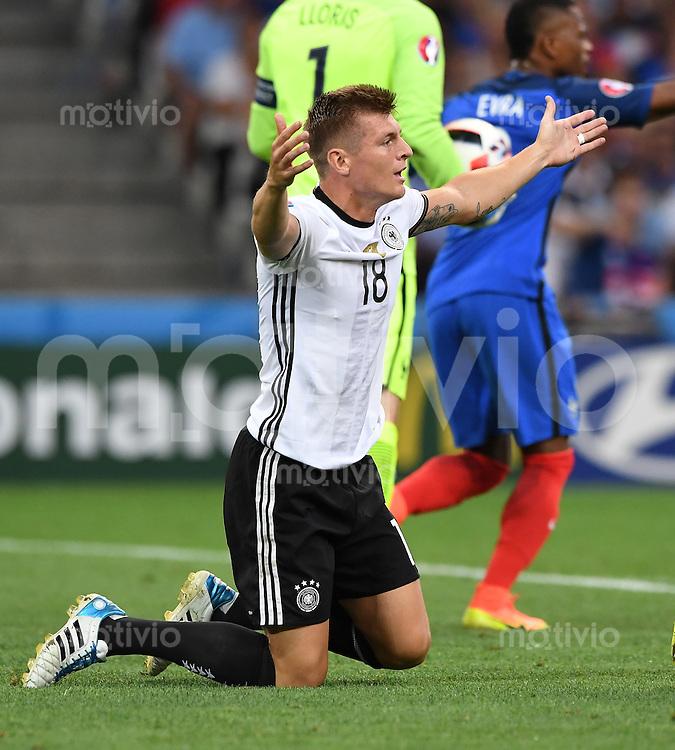 FUSSBALL EURO 2016 HALBFINALE IN MARSEILLE  Deutschland - Frankreich                 07.07.2016 Toni Kroos (Deutschland)