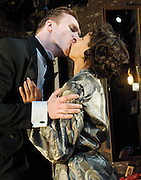 Dream Story <br /> By Arthur Schnitzler <br /> Adapted and Directed by Anna Ledwich&nbsp;<br /> World Premiere<br /> at The Gate Theatre, Notting Hill Gate, London, Great Britain <br /> press photocall<br /> 10th June 2011<br /> <br /> Luke Neal (as Fridolin)<br /> Rebecca Scroggs (as Marianne)
