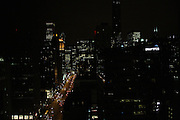 This image captures a nighttime, southward glance down Chicago's Magnificent Mile.