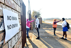 South Africa - Johannesburg - 08 June 2020 - Matric pupils at Tharabollo Secondary School in Palm Spring, south of Gauteng,  embark with their education on the first day of the school reopening under level 3 regulations of the national lockdown. The school suffered another break in, during the early hours of Saturday morning. Criminals gained entry into the staffroom through the roof, cut the alarm system, school siren system and took all the electrical plugs and the circuit breakers. <br /> Picture: Itumeleng English/African news Agency(ANA)