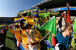 Brazil Supporters during the third soccer match of the 2009 Confederations Cup between Brazil and Egypt played at Vodacom Park,Bloemfontein,South Africa on 15 June 2009.  Photo: Gerhard Steenkamp/Superimage Media.