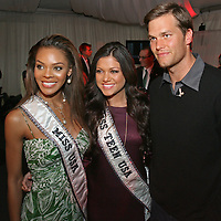 Tom Brady, is seen at a Boston,MA charity event, Best Buddies, with Miss USA and Miss Teen USA. Photo by Mark Garfinkel