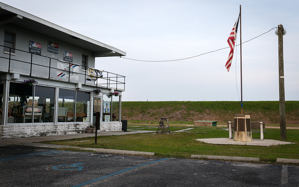 The Skyway Trap and Skeet Club is seen on April 12, 2016 in St. Petersburg, Fla. In 2004, the Southwest Florida Water Management District spent $25 million in taxpayer money to remediate toxic lead from the wetland and build a berm to stop further contamination. After a decade-long legal battle between the District and the gun range, a lawsuit was dropped in February after NRA lobbyist Marion Hammer called for the agency's dissolution. (David Albers for The Trace)