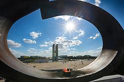 Pira da Pátria na Praça dos Três Poderes integra o conjunto arquitetônico do Panteão da Pátria e da Liberdade Tancredo Neves possui o formato de pomba e está Praça dos Três Poderes. Foi projetada pelo arquiteto Oscar Niemeyer. FOTO: Jefferson Bernardes/ Agência Preview