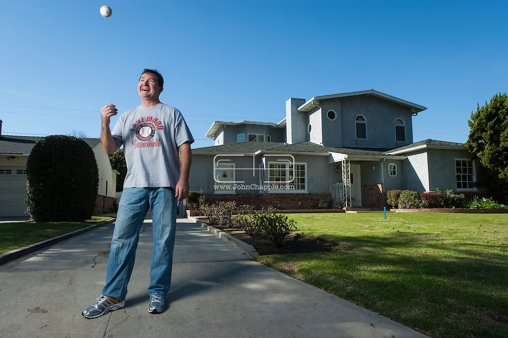 January 8, 2013. Lakewood, California. Lance d'Arnaud the father of Travis d'Arnaud  (catcher in the New York Mets) and Chase d'Arnaud ((infielder with the Pittsburgh Pirates). Pictured at their southern Californian home.Photo Copyright John Chapple / www.JohnChapple.com