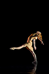 "© Copyright licensed to London News Pictures. 08/11/2010. Angela Towler dances in ""Awakenings"".  Rambert Dance Company presents ""Awakenings', based on the book by Oliver Sachs, at Sadler's Wells, London. Choreographed by Aletta Collins, and with a specially-commissioned score by American composer, Tobias Picker, this is a premiere for London. The company are: Angela Towler, Pieter Symonds, Gemma Nixon, Thomasin Gulgec, Jonathan Goddard, Robin Gladwin, Malgorzat Dzierzon, Eryck Brahmania. Commissioned by Daniel Katz Limited. Lighting design by Yaron Abulafia. Design by Miriam buether."