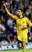 Fotball<br /> Foto: imago/Digitalsport<br /> NORWAY ONLY<br /> <br /> 09.08.2006  <br /> <br /> Nikos Lyberopoulos (AEK Athen) - Torjubel<br /> <br /> Champions League Qualifikation 2006/2007, Hearts of Midlothian - AEK Athen 1:2