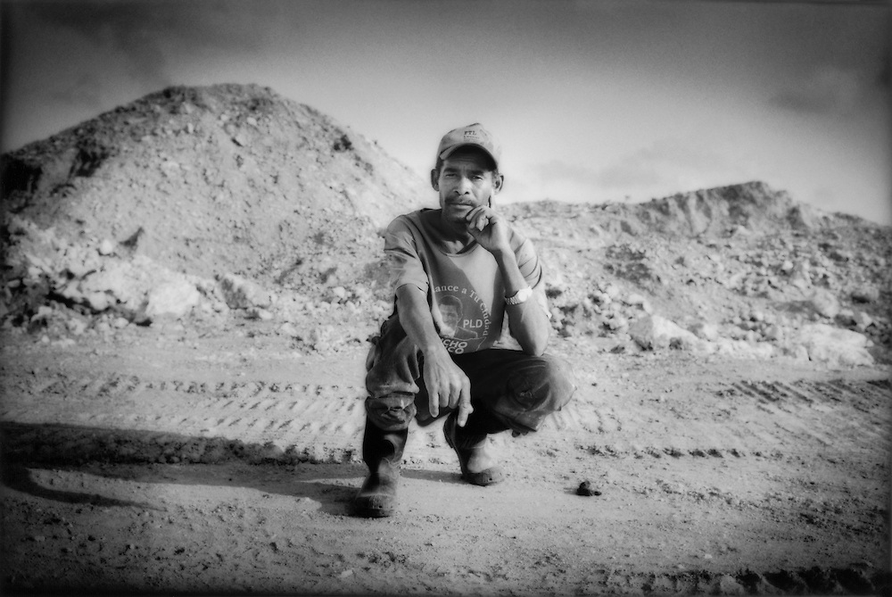 Andres Perez Segura at the chalk mine that he and other members of Cooperativa Esperanza have bought, near Barahona, Domincan Republic.